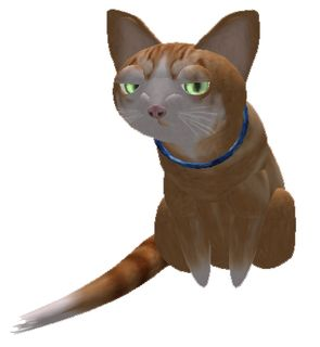 Ginger Cat Virtual Pet Cat