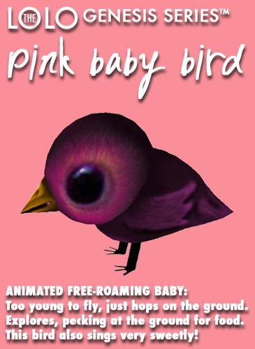 Pink Baby Bird