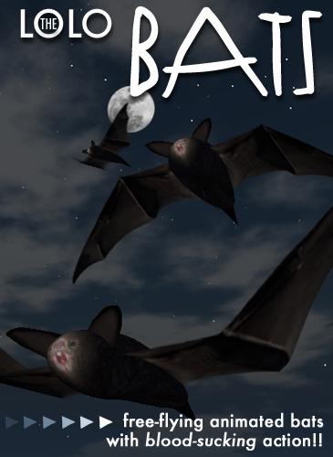 Second Life Pets New Release:  BATS!